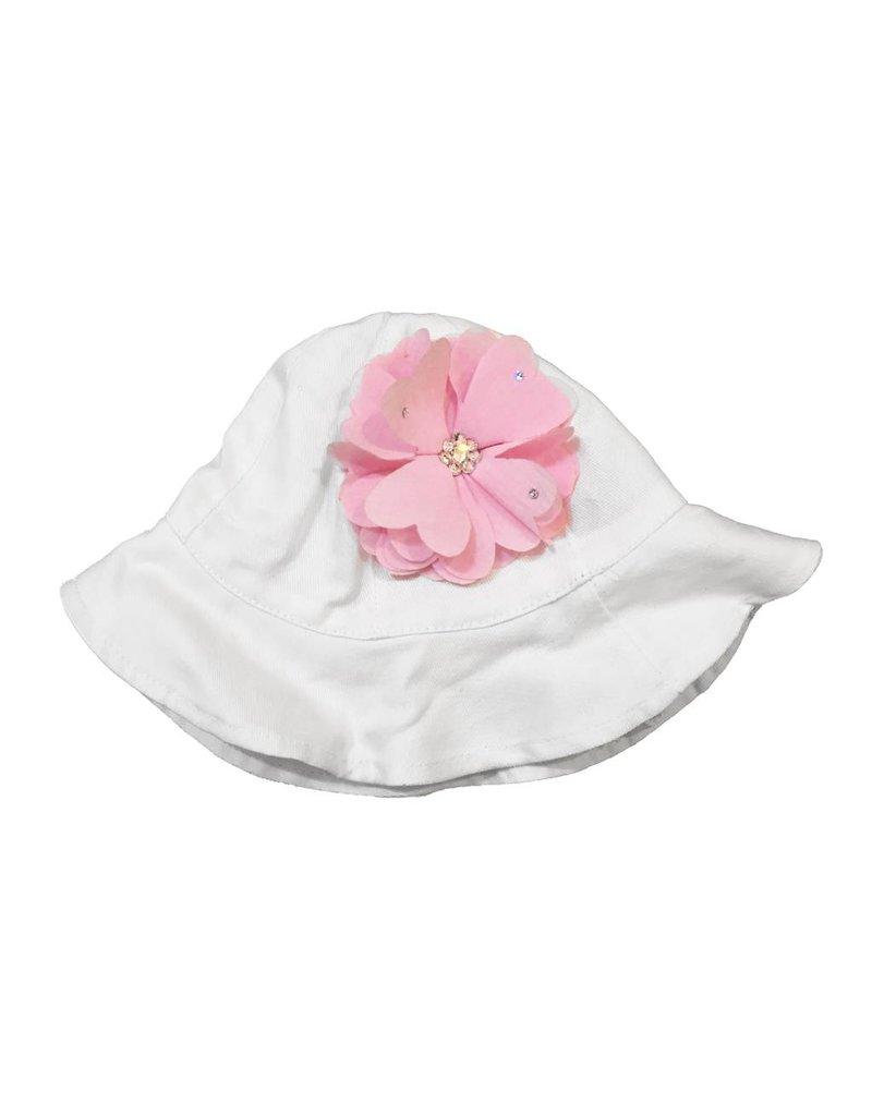 Bari Lynn Crystal Flower Sunhat