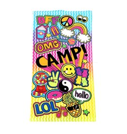 Confetti Camp Patches Beach Towel