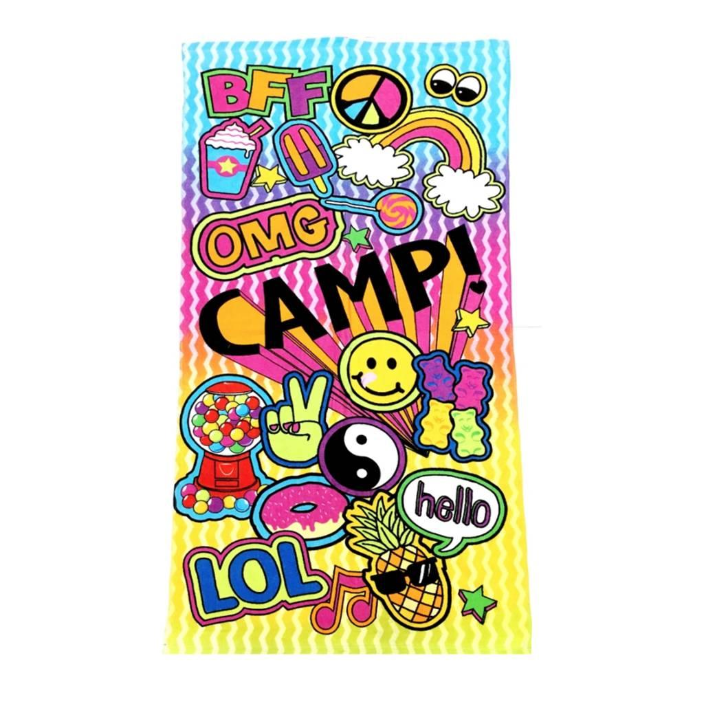 Confetti Camp Patches Beach Towel