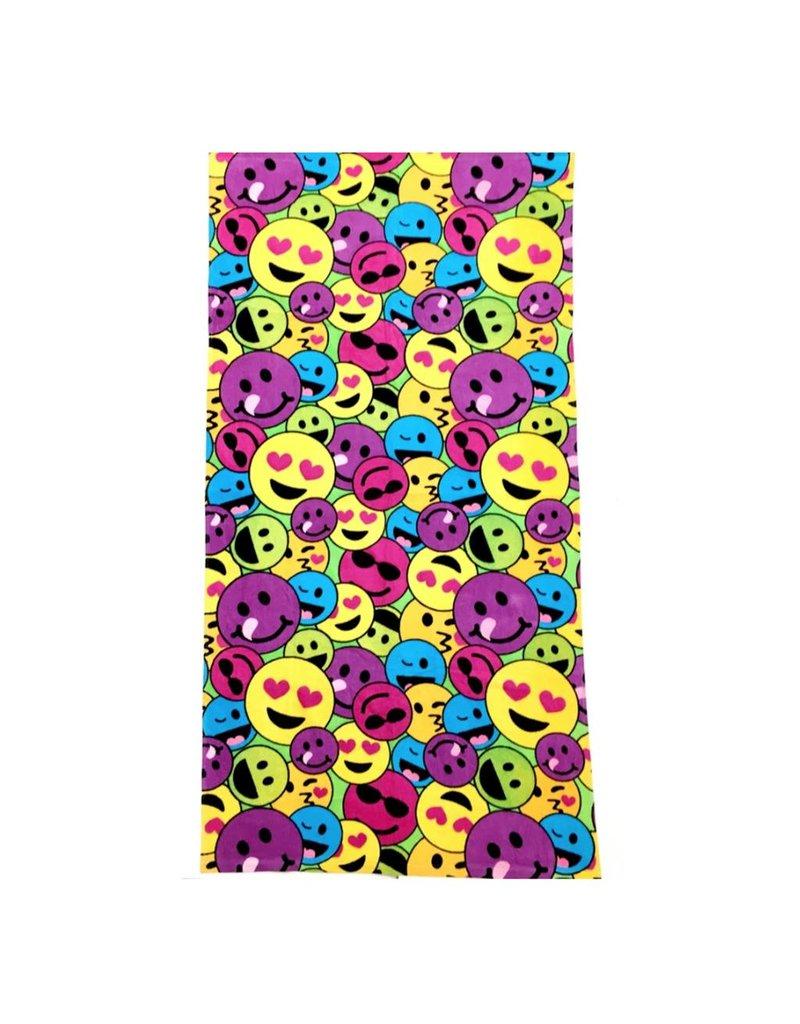 Confetti Rainbow Emoij Beach Towel