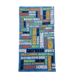 Confetti Sports Graffiti Beach Towel