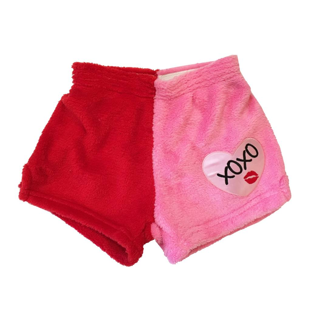 Chamor XOXO Heart Patch Shorts