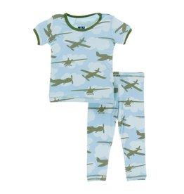Kickee Pants Airplanes 2pc PJ Set
