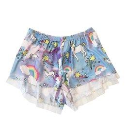 Tru Luv Lace Trimmed Unicorn Lounge Shorts