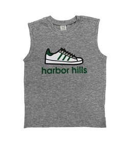Custom Camp Green Sneaker Tank