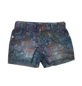 Boboli Paisley Denim Shorts
