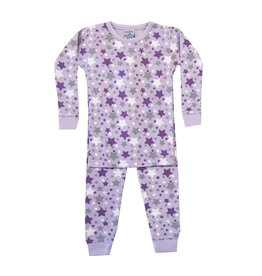 Baby Steps Lavender Stars Infant PJ Set