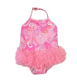 Kate Mack Floral Tutu Infant Swimsuit