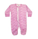 Baby Steps Lilac Lace Ruffle Footie