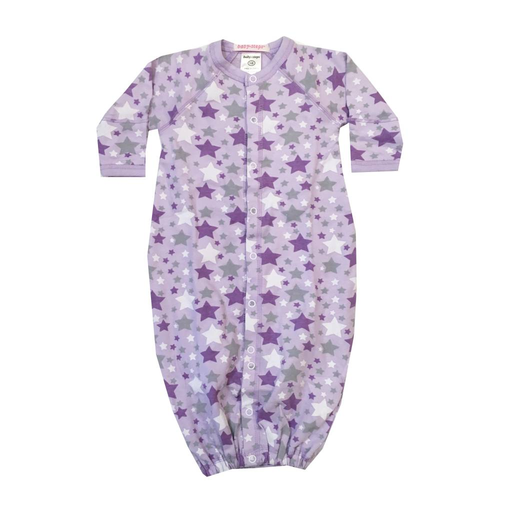 Baby Steps Lavender Stars Convertible Gown
