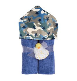 Baby Jar Camo Stars Hooded Towel