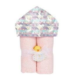 Baby Jar Pastel Unicorns Hooded Towel
