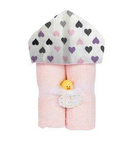 Baby Jar Chromatic Hearts Hooded Towel