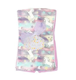 Baby Jar Pastel Unicorns Burp Cloth