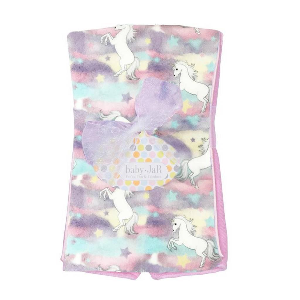 Baby Jar Pastel Unicorns Burp Cloth