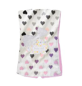 Baby Jar Chromatic Hearts Burp Cloth