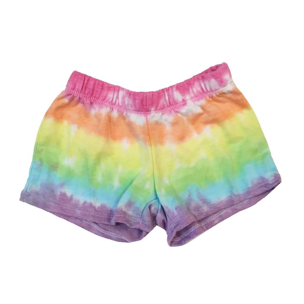 Firehouse Rainbow Tie-Dye Shorts