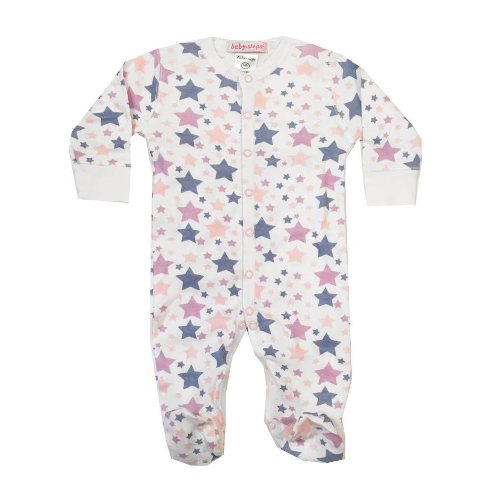 Baby Steps Pastel Stars Footie
