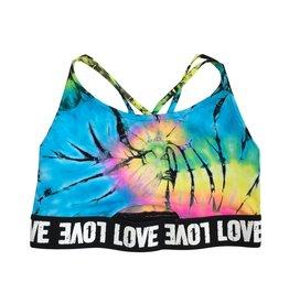 Malibu Sugar Tie Dye Love Sports Bra (7-14)