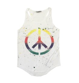 Firehouse Peace Splatter Ribbed Tank