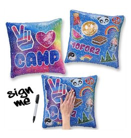 Reversible Sequin Camp Pillow