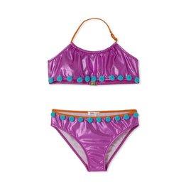 Stella Cove Metallic Pom Pom Bikini