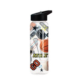 Sports Print Water Bottle