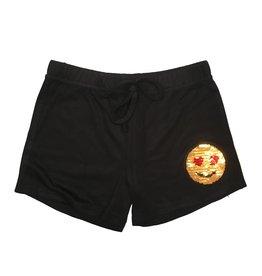 Malibu Sugar Emoji Sequin Patch Short