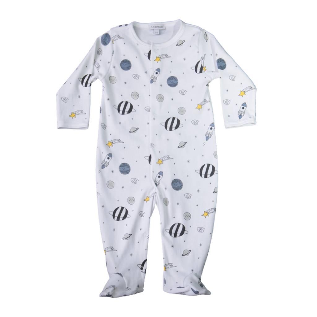 Baby Noomie Universe Zipper Footie