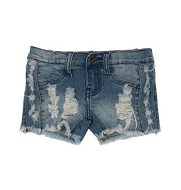 Vintage Havana Side Distressed Shorts