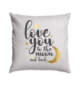 Light Grey Moon & Back Pillow