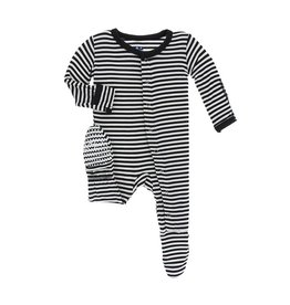 Kickee Pants Midnight Stripe Footie
