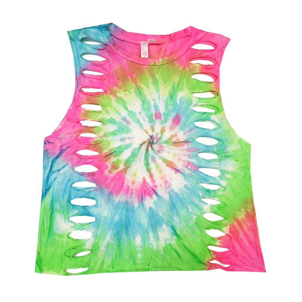 Malibu Sugar Tie Dye Side Holes Tank