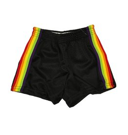 Dori Creations Rainbow Stripe Mesh Short