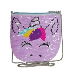 Reversible Sequin Unicorn Crossbody Purse