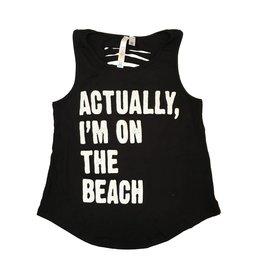 Malibu Sugar On the Beach Slash Back Tank