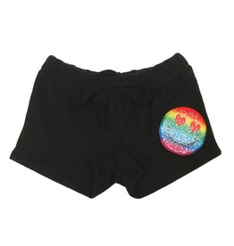 Malibu Sugar Reverse Sequin Emoji Fleece Shorts