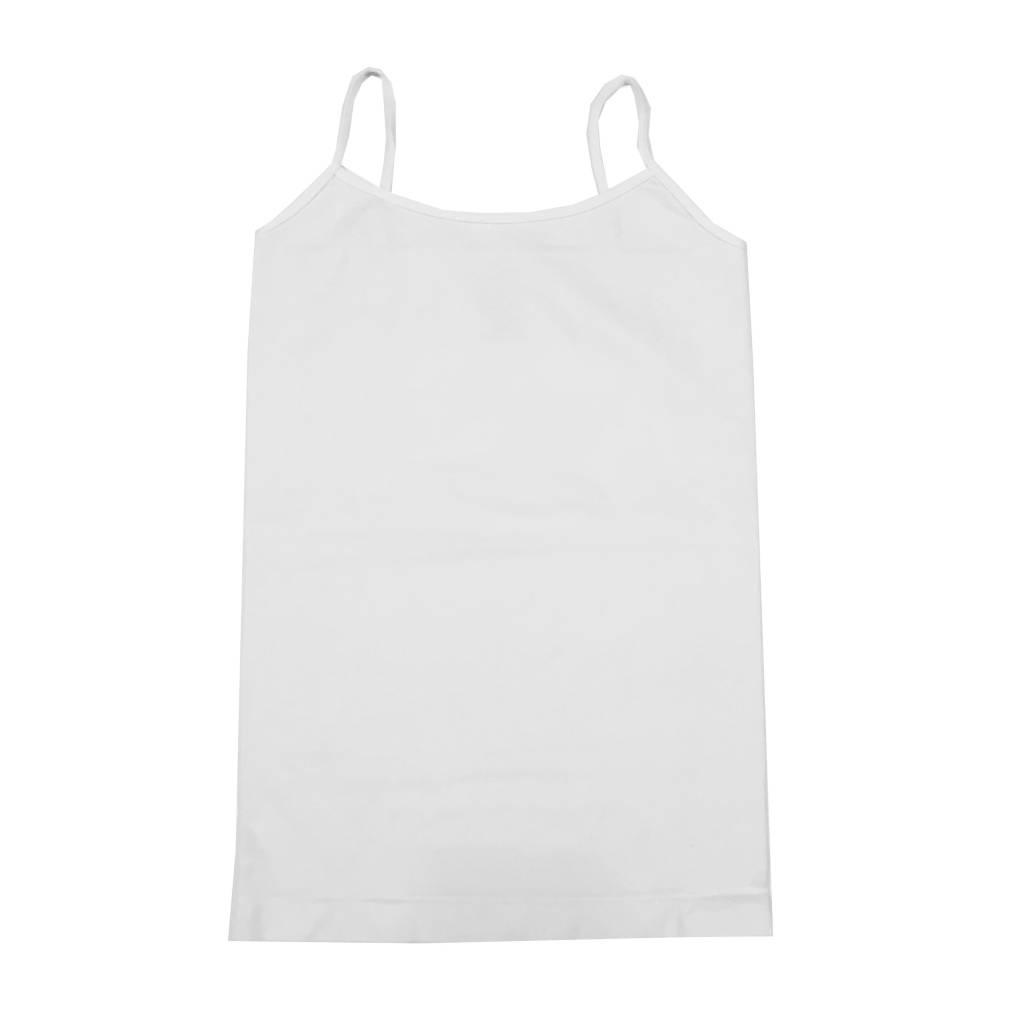 Malibu Sugar White Long Cami 4-6x