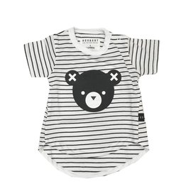 Huxbaby Striped Bear Tee