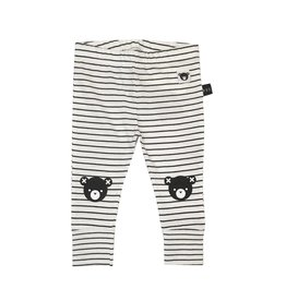 Huxbaby Striped Bear Knee Leggings