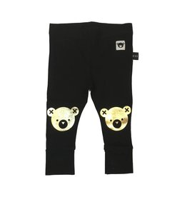 Huxbaby Gold Bear Knee Leggings