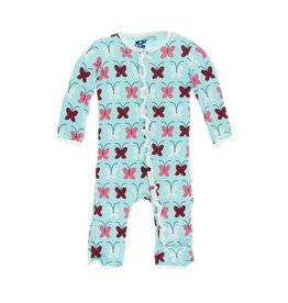 Kickee Pants Butterfly Ruffle Coverall