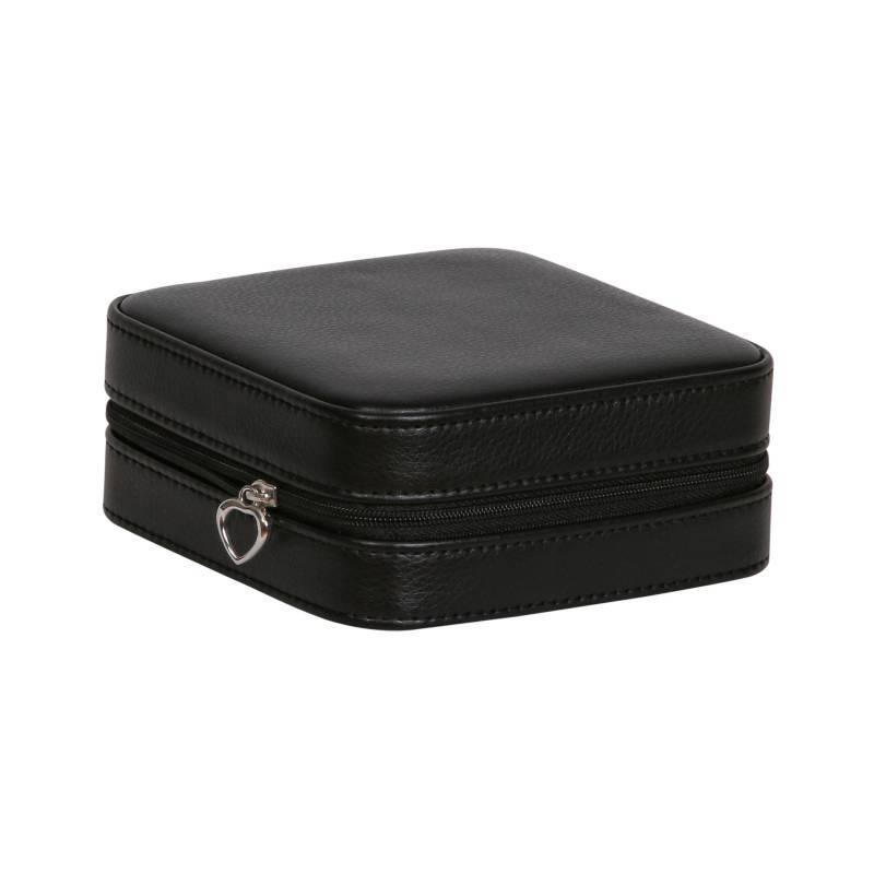 Small Black Travel Jewelry Case