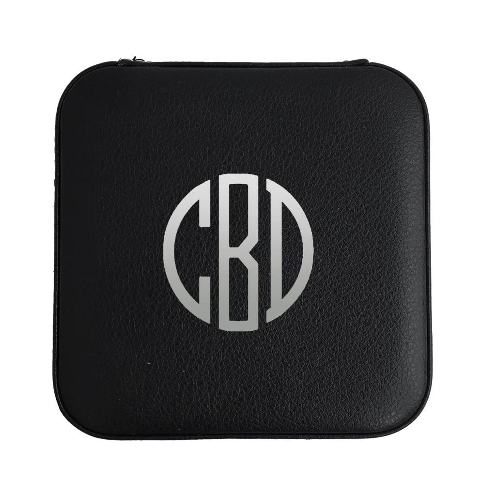 Medium Black Travel Jewelry Case