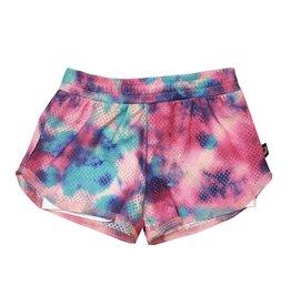 Terez Rainbow Tie Dye Mesh Short