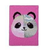 Reversible Sequin Panda Journal