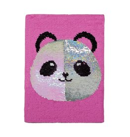 Reversible Sequin Panda Journal