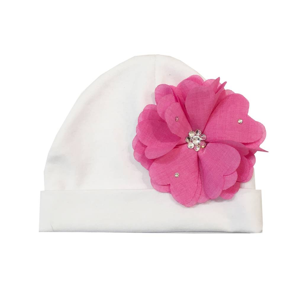 Bari Lynn Hat with Chambrey Flower