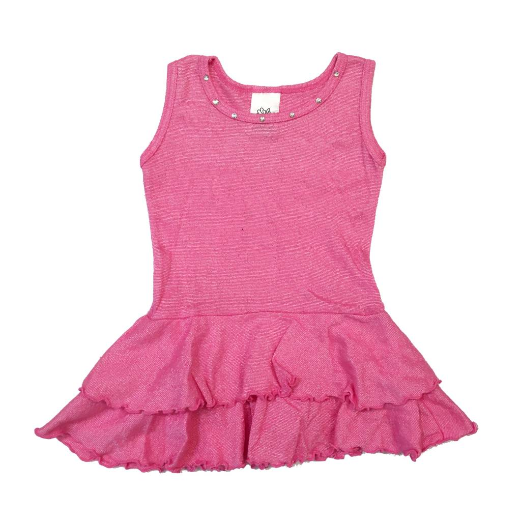 Zinnias Rhinestone Trim Dress