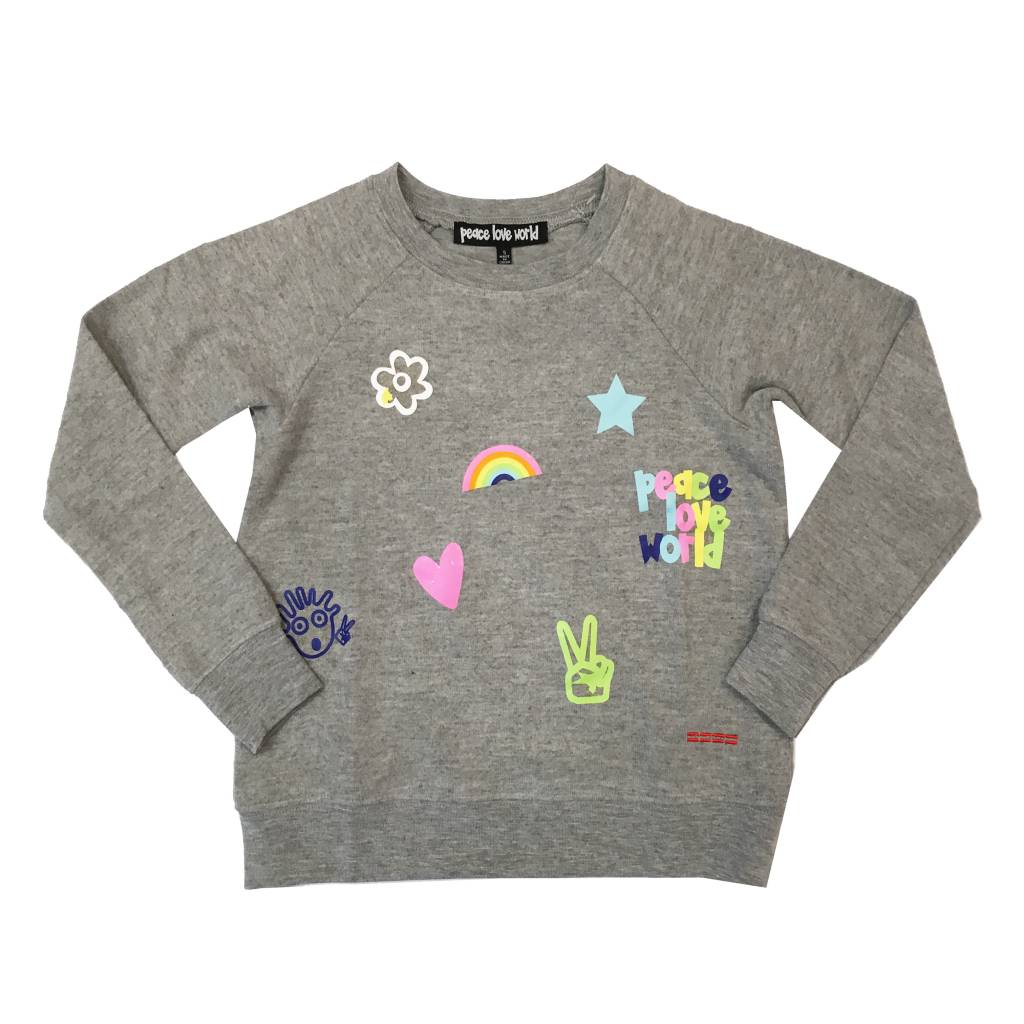 Peace Love World Icons Sweatshirt
